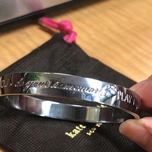 New Kate spade silver MOM SAID SO bracelet